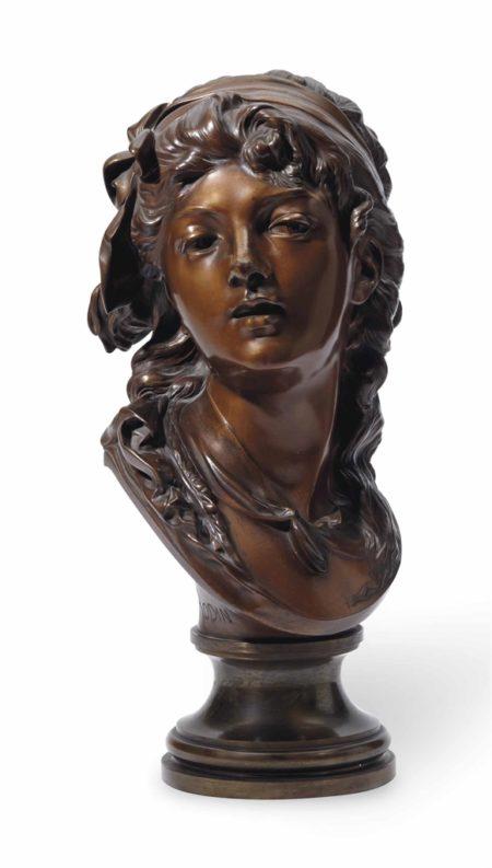 Auguste Rodin-Buste de Suzon, taille originale dite aussi 'taille no. 5'-1910