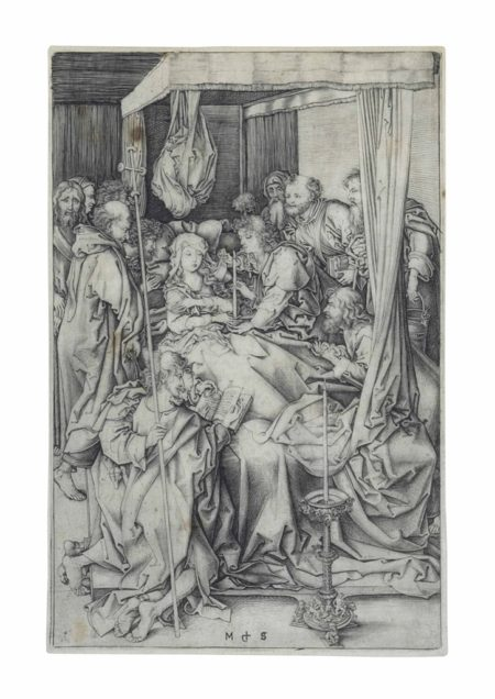 Martin Schongauer-The Death of the Virgin-1474