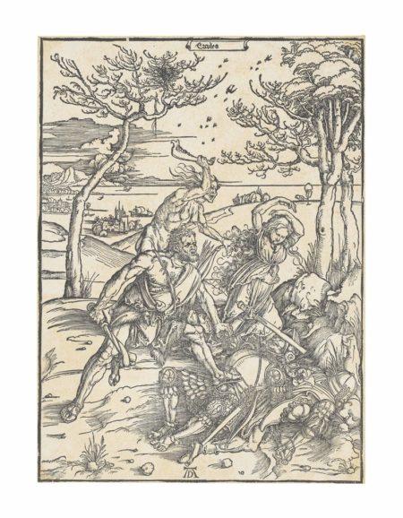 Albrecht Durer-Hercules conquering Cacus (Hercules conquering the Molionide Twins)-1496
