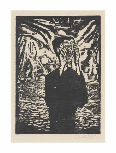 Erich Heckel-Mann in der Ebene-1917