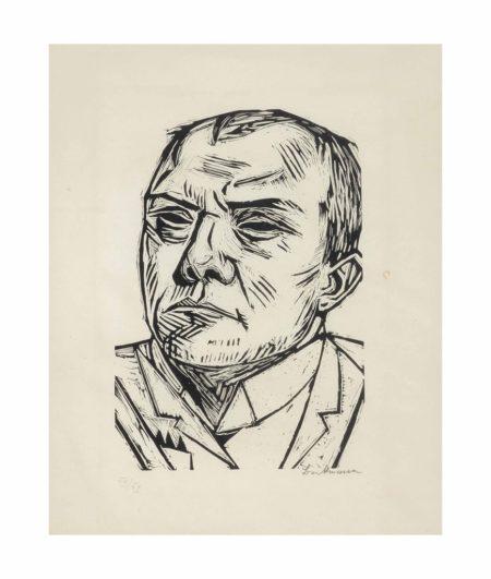 Max Beckmann-Selbstbildnis (Self-Portrait)-1922