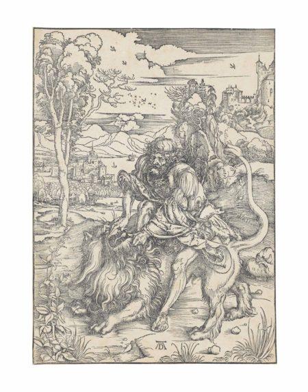 Albrecht Durer-Samson rending the Lion-1497