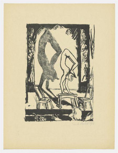 Handstand; Die Tote (Szene zu Dostojewskis 'Idiot'); Die Bruder Karamasow-1916