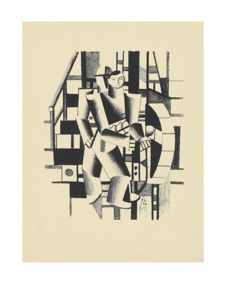 Fernand Leger-Composition aux deux personages (Der Maschinenbauer)-1920
