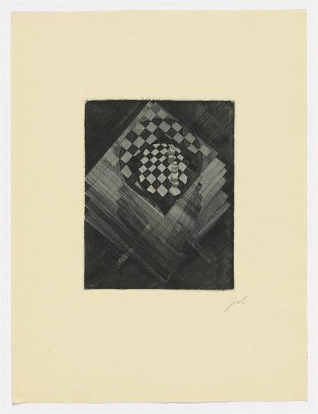Jacques Villon-Table d'echecs (Das Schachbrett); Centre Noir-1920
