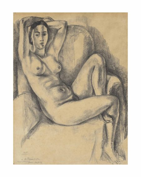 Henri Matisse-Nu au coussin bleu-1924