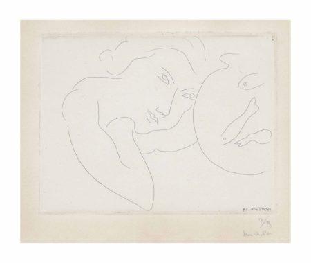 Henri Matisse-Tete penchee et Bocal de Poissons-1929