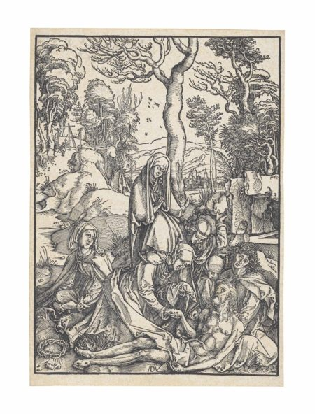 Albrecht Durer-The Lamentation, from The Large Passion-1499