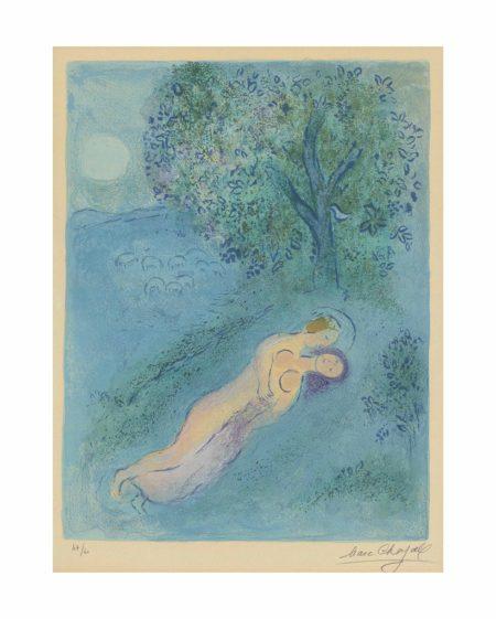 Marc Chagall-La lecon de Philetas: from Daphnis et Chloe-1962