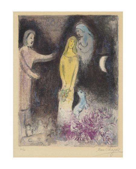 Marc Chagall-Chloe vetue et coiffee par Cleariste, from: Daphnis et Chloe-1961