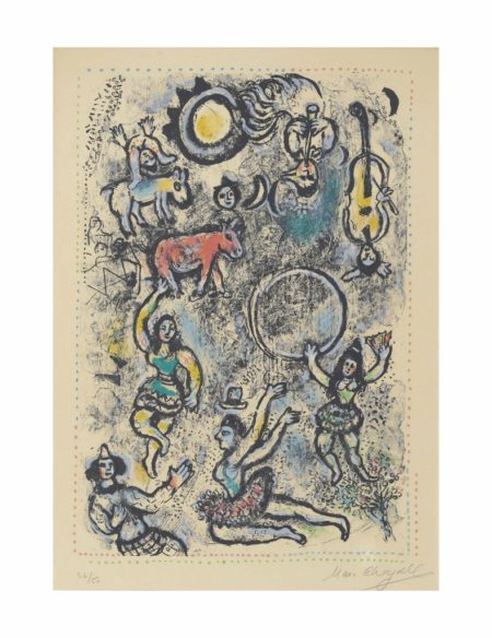 Marc Chagall-Les Saltimbanques-1969