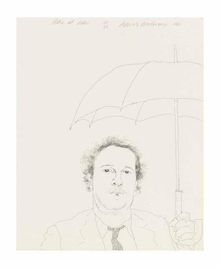 David Hockney-The Restaurateur-1972