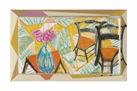 David Hockney-Walking Past Two Chairs, from: Moving Focus-1986