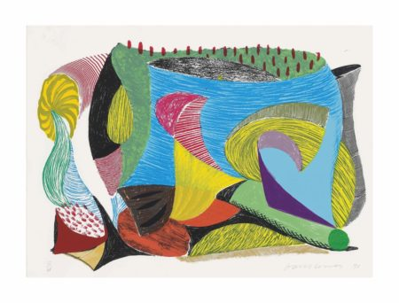 David Hockney-Above and Beyond, from: Some More New Prints-1993