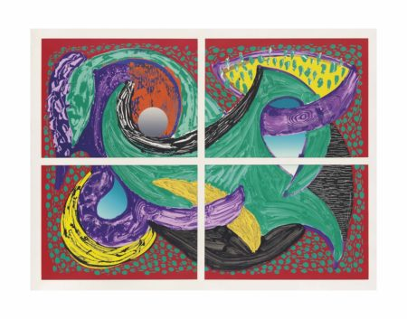 David Hockney-Going Round, from: Some More New Prints-1993