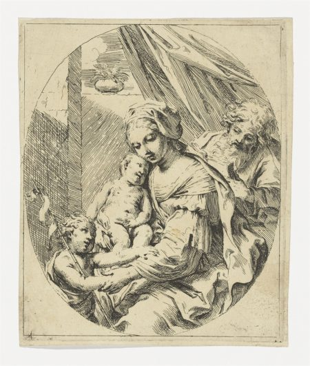 Agostino Carracci, after Correggio; Ecce Homo; Annibale Carracci; Giovanni Benedetto Castiglione; Giulio Carpioni, Nativity (B. 8); Luca Ciamberlano (1599-1641) after Raphael; Giovanni Battista Dotti; Giuseppe Maria Rolli; Elisabetta Sirani - A Small Collection of 16th & 17th Century Italian Etchings (Ecce Homo (B. 20); Susannah and the Elders (B. 1); Rachel concealing Laban's Idols (B. 4); Nativity (B. 8); Saint Jerome dying in Solitude (B. 72); The Denial of Saint Peter (Nagler 1754); Charity (B. 3); Holy Family with the young John the Baptist (B. 3)-1700