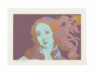 Andy Warhol-One plate from: Details of Renaissance Paintings (Sandro Botticelli, Birth of Venus, 1482)-1984