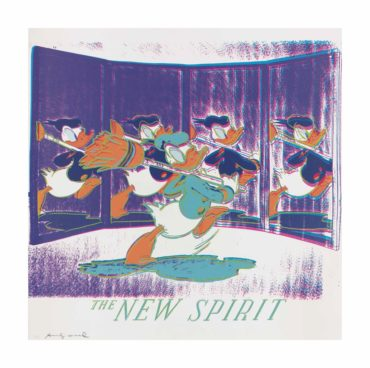 Andy Warhol-The New Spirit (Donald Duck), from: Ads-1985