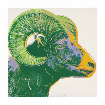 Andy Warhol-Bighorn Ram, from: Endangered Species-1983