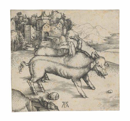 Albrecht Durer-The Monstrous Sow of Landser-1496