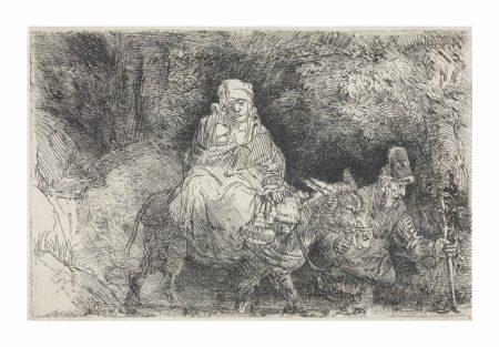Rembrandt van Rijn-The Flight into Egypt: crossing a Brook-1654