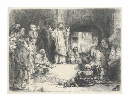 Rembrandt van Rijn-Christ preaching ('La Petite Tombe')-1652