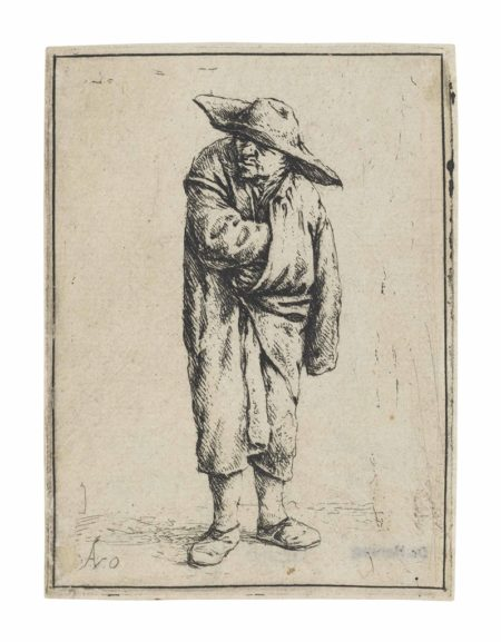 Adriaen van Ostade-Peasant with his Hand in his Cloak-1638
