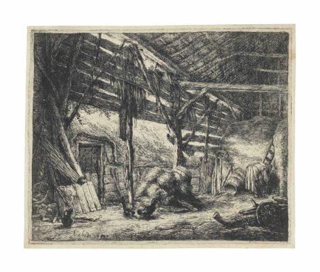 Adriaen van Ostade-The Barn-1647