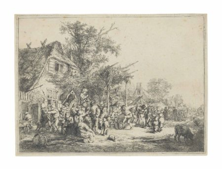 Adriaen van Ostade-The Dance under the Trellis-1652