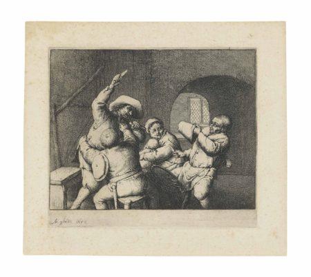 Adriaen van Ostade-The Peasants' Quarrel-1653