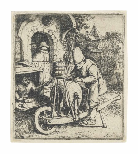 Adriaen van Ostade-The Knife Grinder-1682