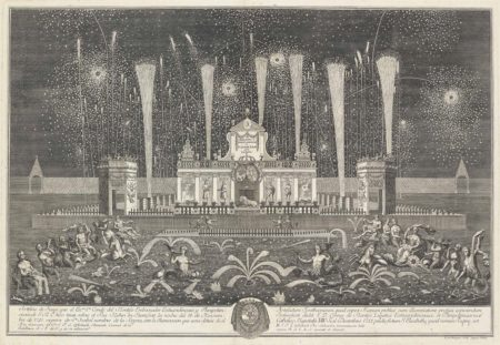 Johann Friedrich Armand Von Uffenbach-After Johann Friedrich Armand Von Uffenbach - The Fireworks and Illuminations of the Conde del Montijo in Frankfurt in 1741; Entwurf einer historischen Architectur-1742