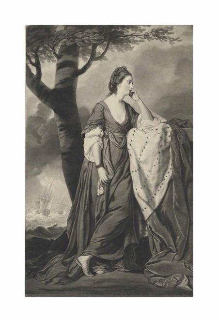 After Joshua Reynolds - Her Grace Mary, Duchess of Ancaster and Kesteven; Sir Joshua Reynolds; Samuel Johnson-1771