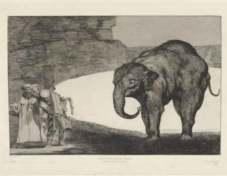Francisco Jose de Goya y Lucientes - The four additional plates for: Los Proverbios; Goya's Self-Portrait-1877