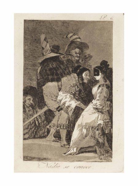 Francisco Jose de Goya y Lucientes - Nadie se conoce, plate 6, from: Los Caprichos-1799