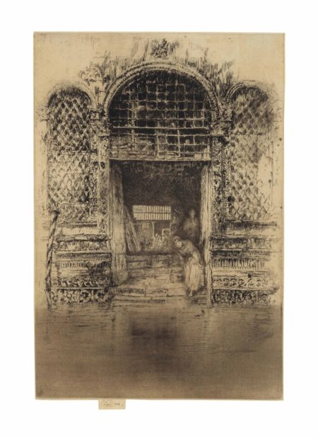 James Abbott McNeill Whistler-The Doorway, from: Venice, a Series of Twelve Etchings-1880