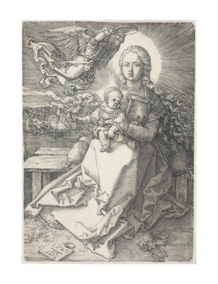 Albrecht Durer-The Virgin and Child crowned by one Angel-1520