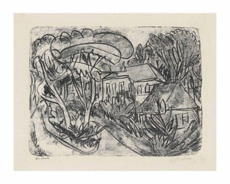 Ernst Ludwig Kirchner-Garten Staberhof, Fehmarn (Herrenhaus im Park)-1913