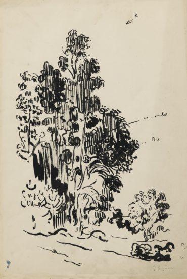 Paul Signac-Etude D'Eucalyptus-1910