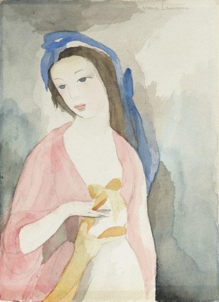 Marie Laurencin-Jeune Femme A La Robe Rose-