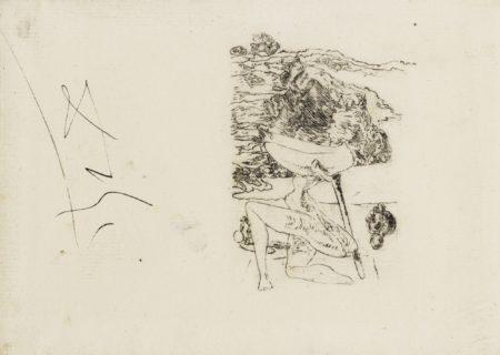 Salvador Dali-Le Spectre Du Sex-Appeal, Epreuve D'Essai Pour Une Illustration Pour L'Ouvrage De Lautreamont Les Chants Du Maldoror-1933