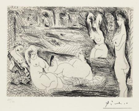 Pablo Picasso-Autour Du Bain Turc. Femmes A La Piscine-1971