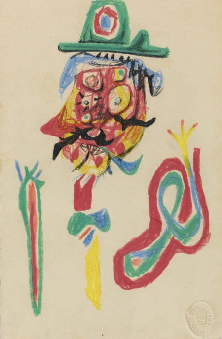 Roberto Matta-Man With Green Head-1938