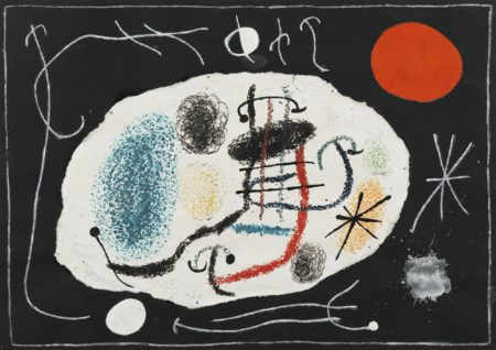 Joan Miro-Le Lezard Aux Plumes D'Or (Project For Plate 6)-1965