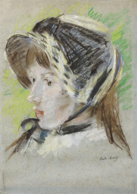 Berthe Morisot-Jeanne Pontillon A La Capeline-1884