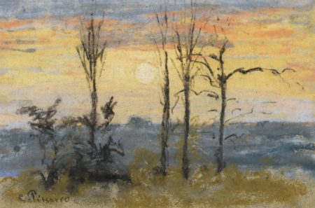 Camille Pissarro-Coucher De Soleil-1871