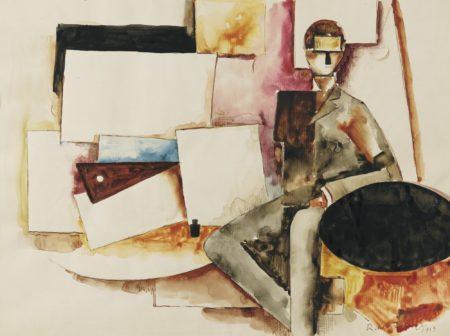 Roger de La Fresnaye-L'Etude Pour : L'Homme Assis-1913