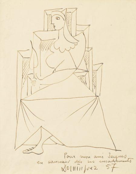 Oscar Dominguez-Seated Woman-1957
