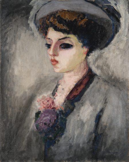 Kees van Dongen-Femme Au Chapeau (Portrait De Madame Charles Malpel)-1908
