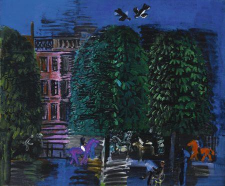 Raoul Dufy-L'Avenue Du Bois, Le Palais Rose-1926